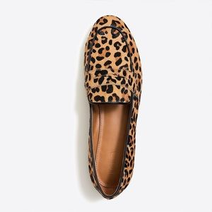 JCrew Factory Leopard Print Calf Hair Penny Loafer